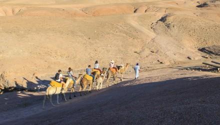 Luxus-Camp in der Agafay-Wüste