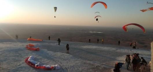 Paragliding at Plateau du Kik