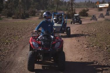 Quad und Kamel in Marrakesch